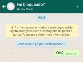 Grupo bloqueado whatsapp
