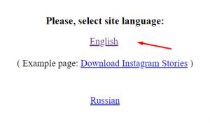 seleção de idioma