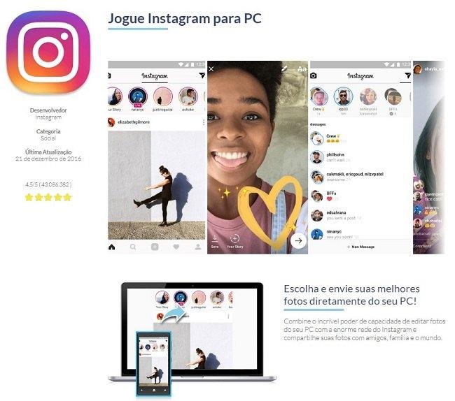conversar no instagram pelo mac