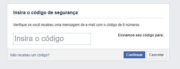 Código Facebook terceiro passo