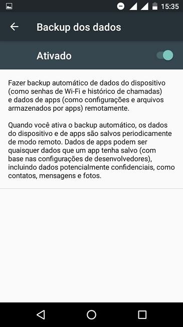 Fazer backup de dados no Android