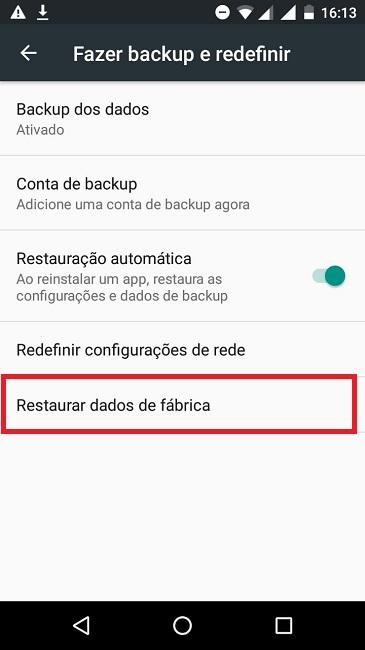 Formatar o celular Android pelas configurações
