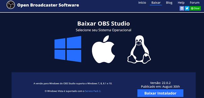 Selecionando o sistema operacinal