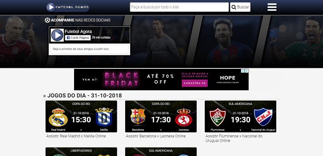 Como ver jogos usando o site de futebol