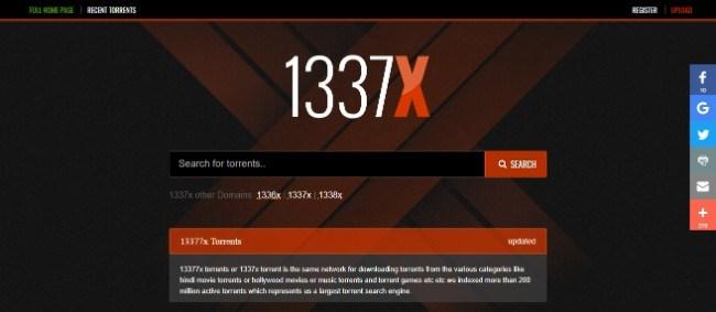 1337X site filmes