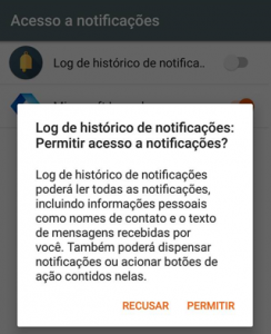 Permitir Notification History Log
