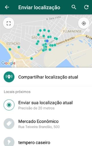 mandar localização