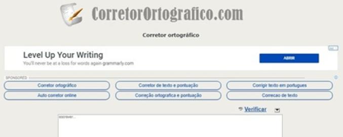 corretor ortográfico online