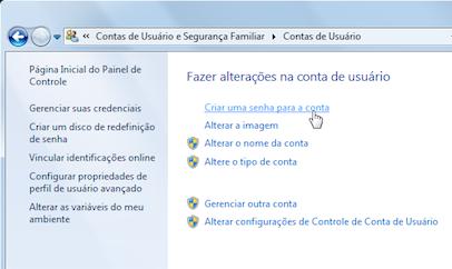 atualizar senha windows 7