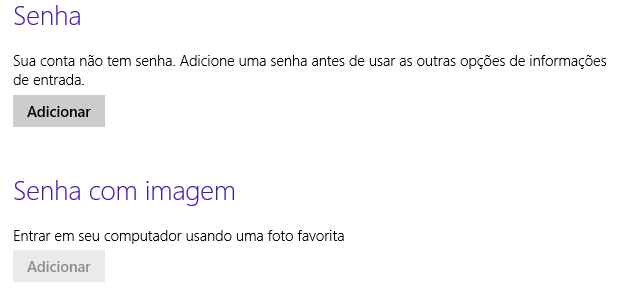modificar senha windows 8