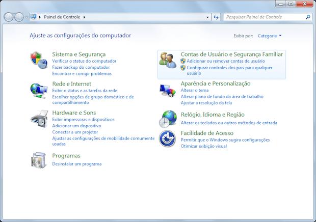 trocar senha windows 7