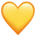 coração amarelo whatsapp
