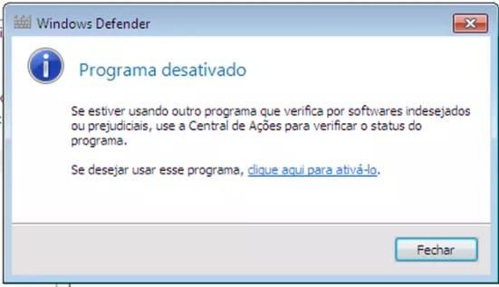 desabilitar windows defender windows 7