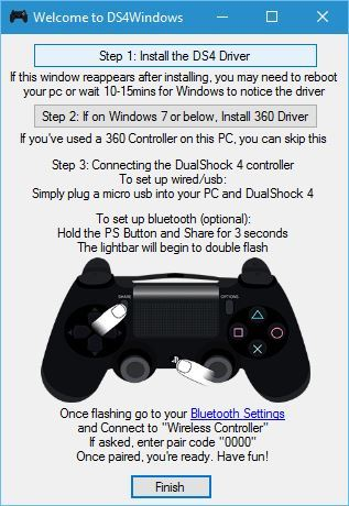 driver controle PS4 PC