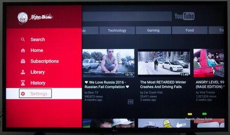 Acesse as configurações na Smart TV