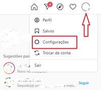 Configurações Instagram para PC