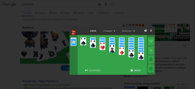 Easter Egg Google Solitaire