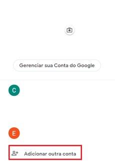 adicionar outra conta gmail - google