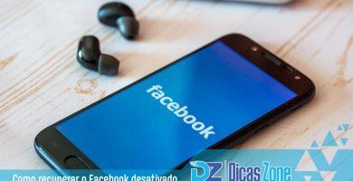 como recuperar conta do facebook desativada