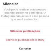 silenciar conta instagram