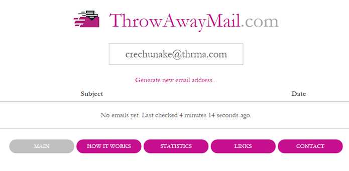 throw away mail site