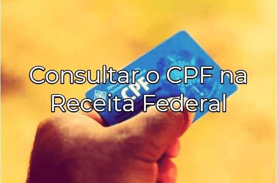 consulta situação cadastral cpf