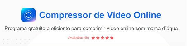 Compressor de Vídeo Online da Apowersoft