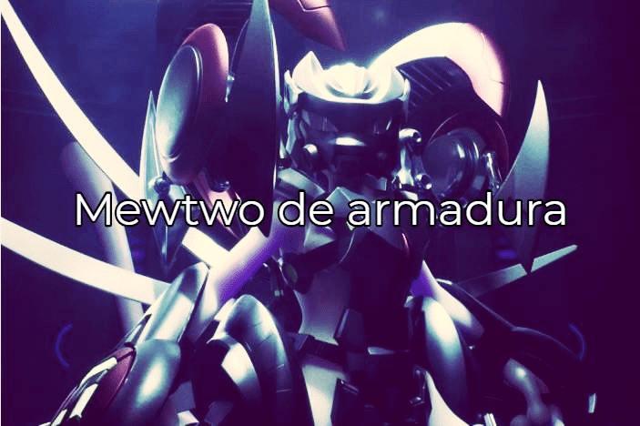 Mewtwo equipado com sua armadura