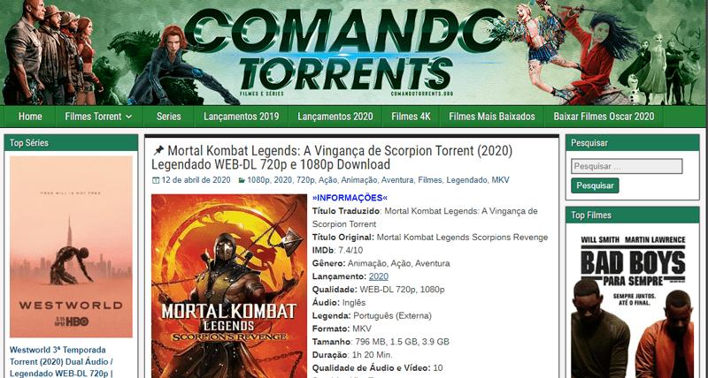 site comando torrents