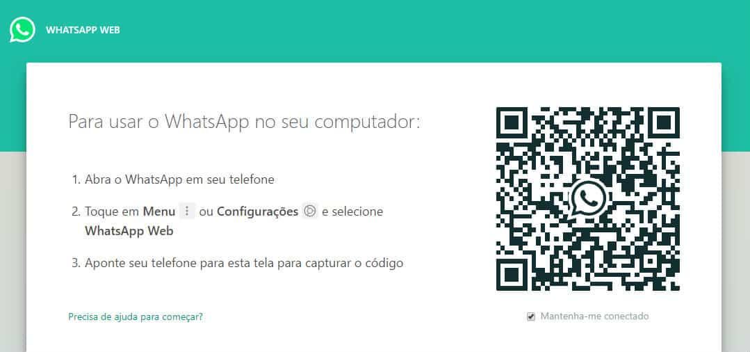 tela whatsapp web
