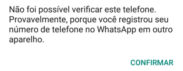 verificação do Whatsapp