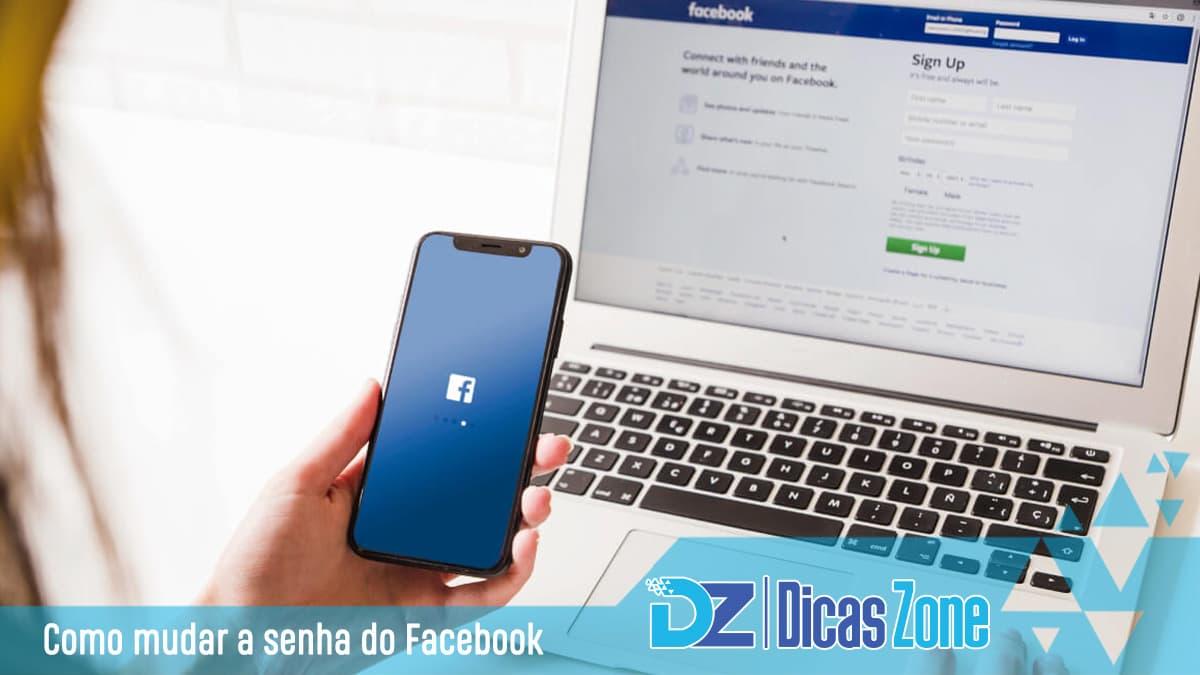 alterar senha facebook