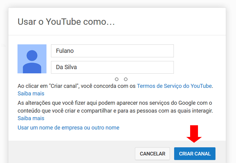 novo canal youtube