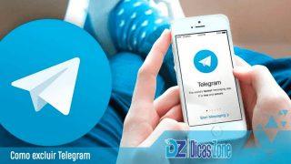 apagar conta telegram