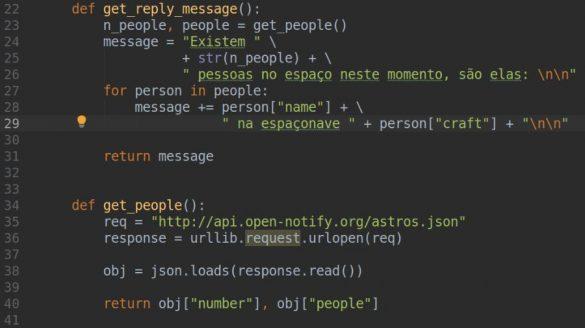 funções auxiliares python bot telegram