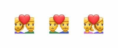 Emoji Casal Apaixonado