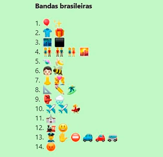 Descubra o nome das Bandas Brasileiras
