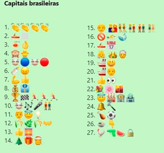 Descubra as capitais brasileiras