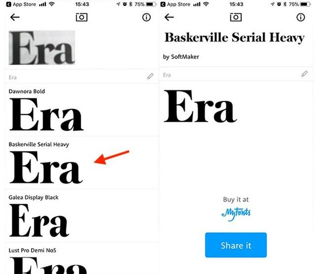 Tirar Foto e Descobrir a Fonte What the Font App