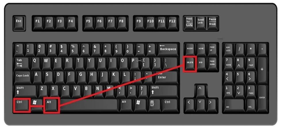 atalho acesso ao gerenciador de tarefas pelo teclado