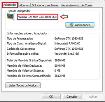 adaptador de vídeo - configurações avançadas de resolução de tela