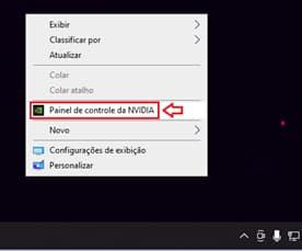 painel de controle Nvidia
