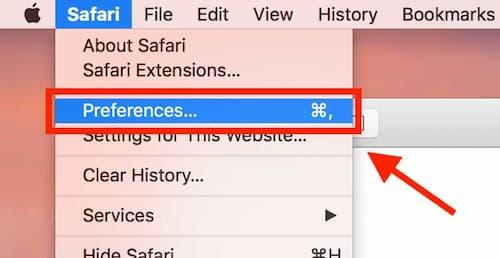 Desativando o Adblock no Safari