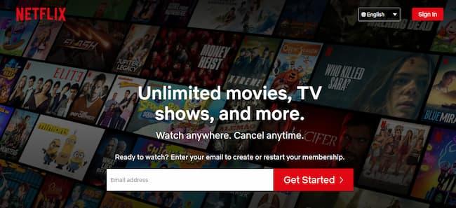 Site da Netflix