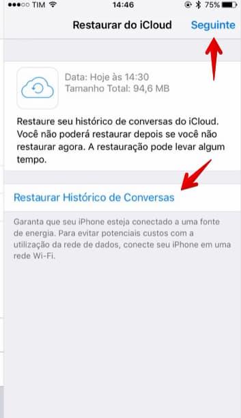 Restaurar áudios apagados do Whatsapp